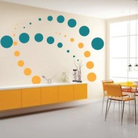 Contemporary Evolution Dots Wall Decals   Trendy Wall Designs