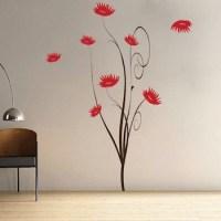 Trendy Flower Tree Wall Decal   Trendy Wall Designs