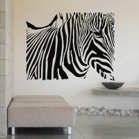 Zebra Rectangle Wall Decal - Trendy Wall Designs