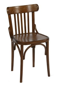 Bentwood Slatback Side Chair in Walnut | Trent Furniture