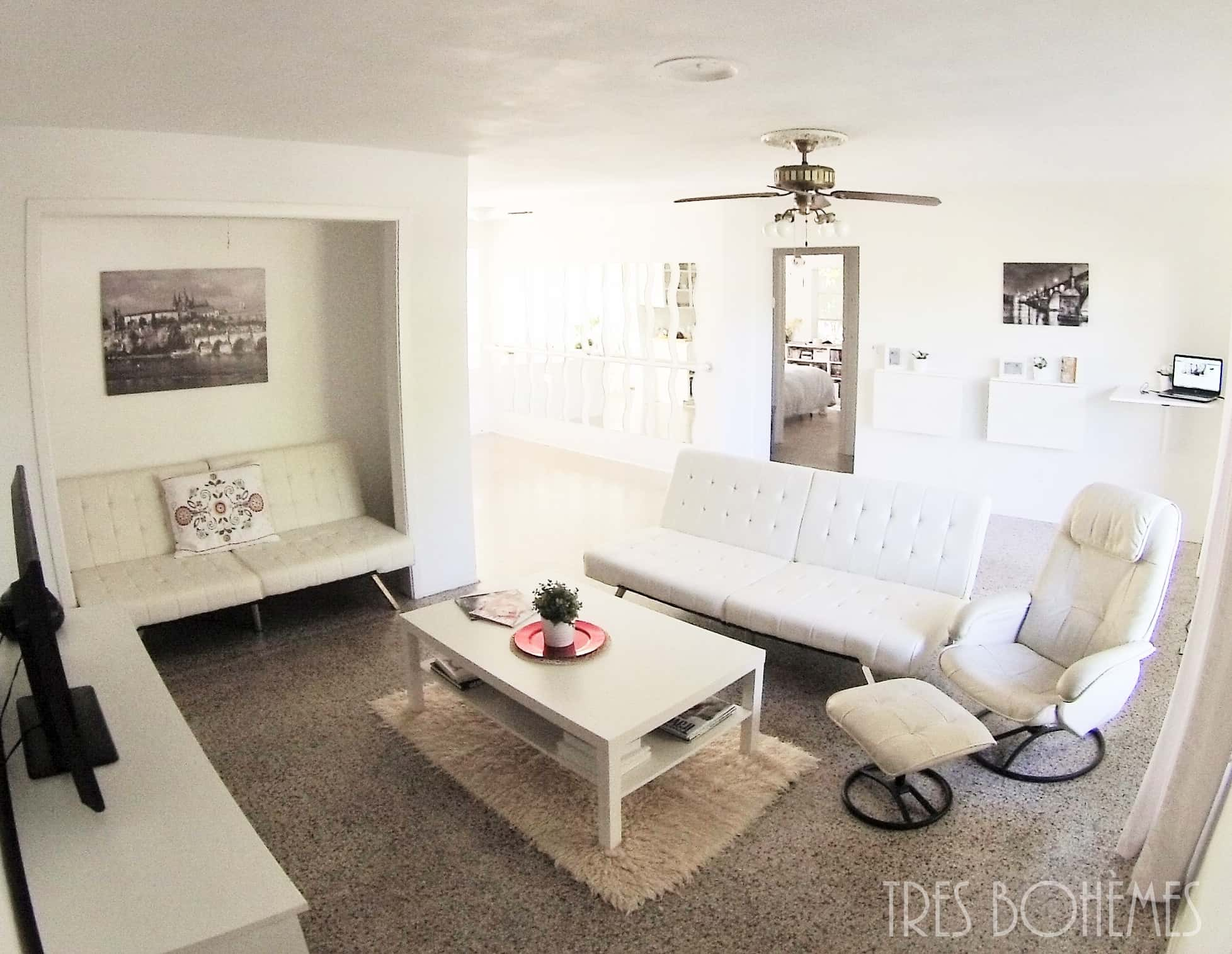 Tour our light and peaceful home tres bohemes for Peaceful living room ideas