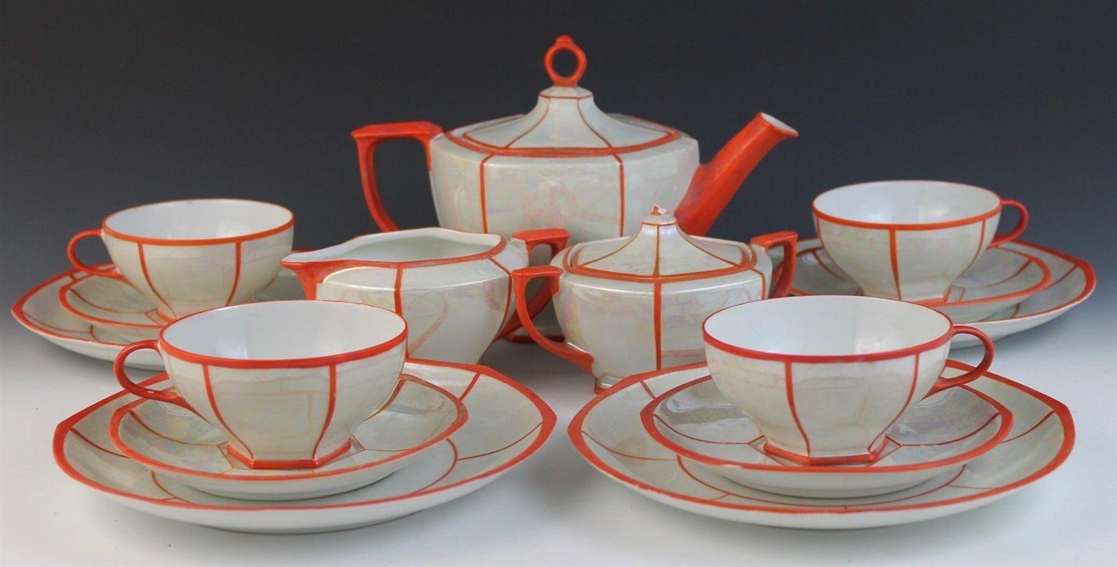 Vintage Czech Porcelain Tea Set From Mz Altrohlau Cmr