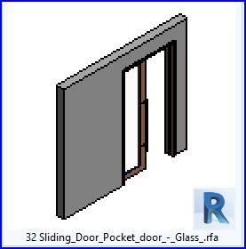 Familias para Revit | 37 Puertas corredizas | 32 Puertas correderas de puerta corrediza de cristal .rfa
