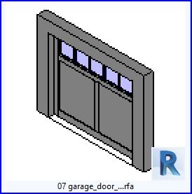 Familias para Revit | 43 puertas de garaje | 07 puerta de garaje .rfa
