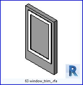 Familias para Revit | 54 Ventanas Varios | 63 ventanarecortar .rfa