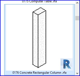 Familias para Revit | 56 Varios | 0176 Hormigon columna rectangular .rfa