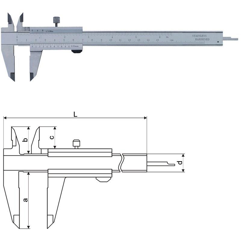 Standard Vernier Calipers - SeriesVC01