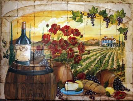 Brick Wallpaper 3d India Tuscan Vineyard Tile Murals