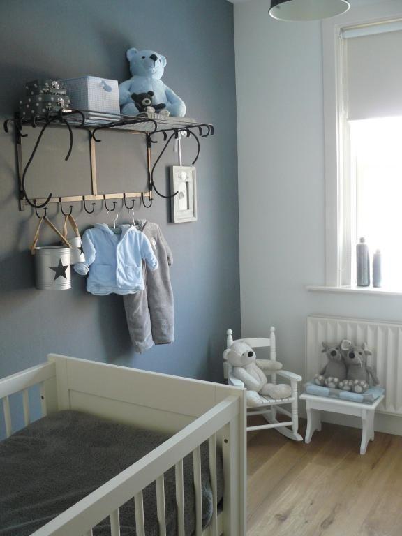 Captivant Chambre Bébé Garçon Gris Et Bleu   Idées De Tricot Gratuit ...