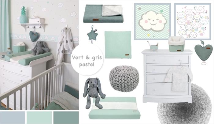 ... Deco Chambre Bebe Vert Gris   Idées De Tricot Gratuit ...