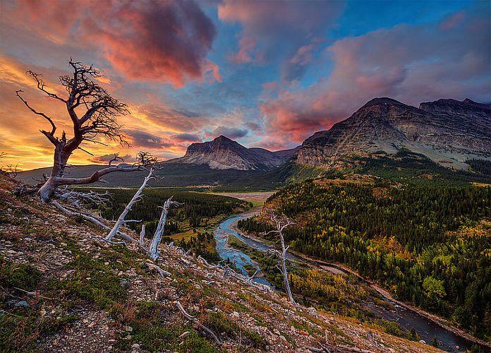 Fall Moutains Wallpaper Parc National De Glacier Montana L Un Des Plus Beaux