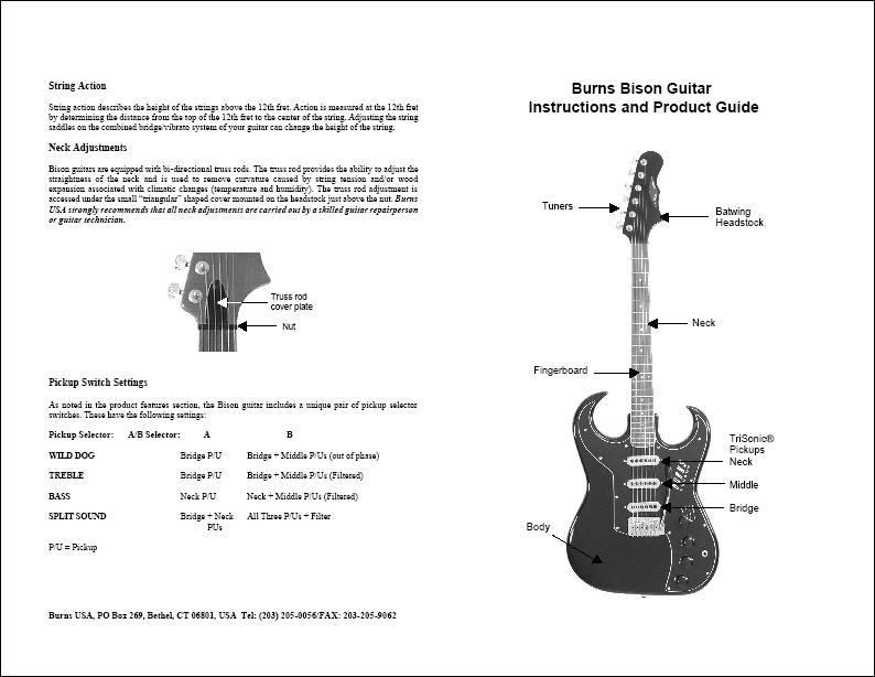 SUPPORT GALLERY - Burns Bison Guitars