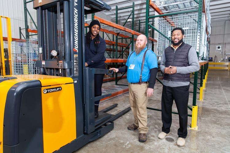 warehouse forklift operator