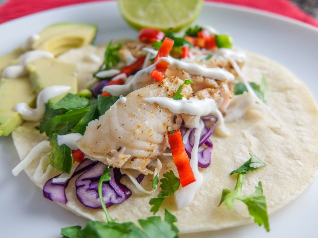 Fish Tacos with Creamy Lime Sauce
