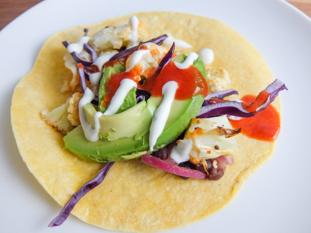 Black Bean and Spicy Cauliflower Tacos