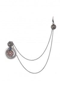 Talisman Earrings with Hair Chain