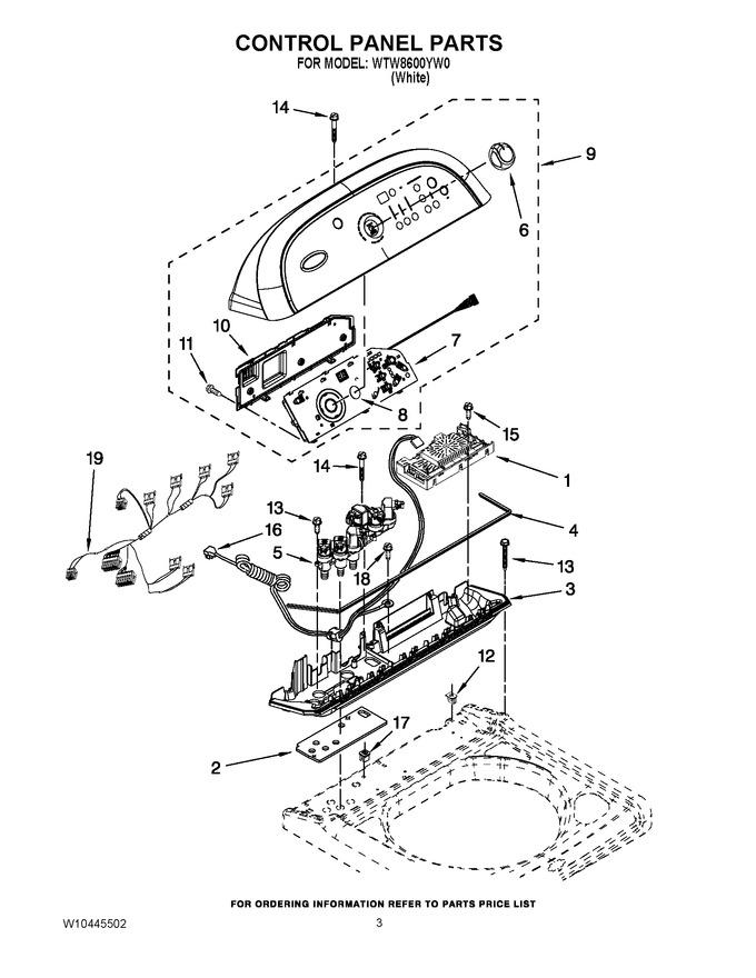 rear panel diagram parts list for model la8860xwq0 whirlpoolparts