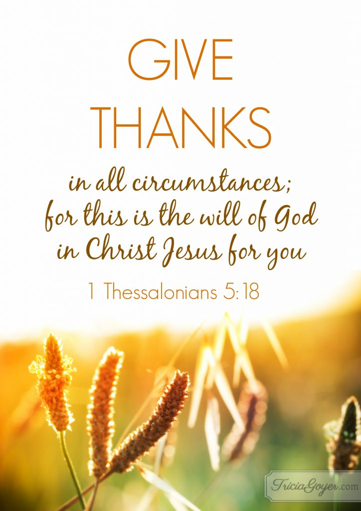 Fall Scripture Wallpaper Give Thanks 1 Thessalonians 5 18