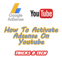 how to activate adsense on youtube logo