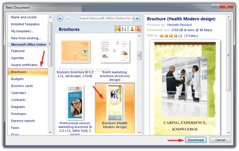 how to make brochure on microsoft word 2010