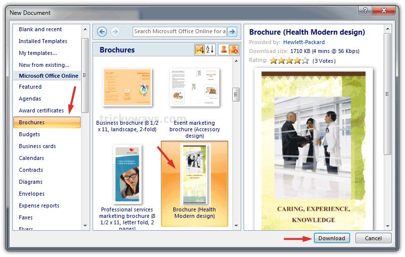 brochure templates word 2010