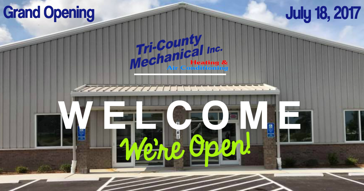 HVAC Grand opening Tri County Mechanical