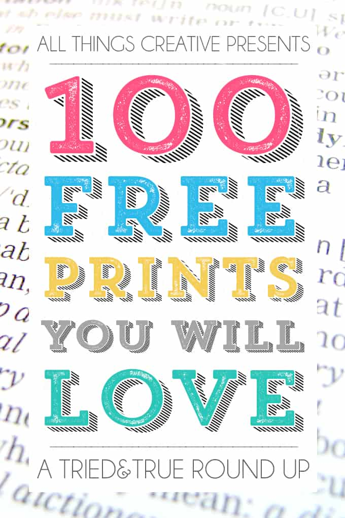 100 Free Printables You Will Love! - Tried  True