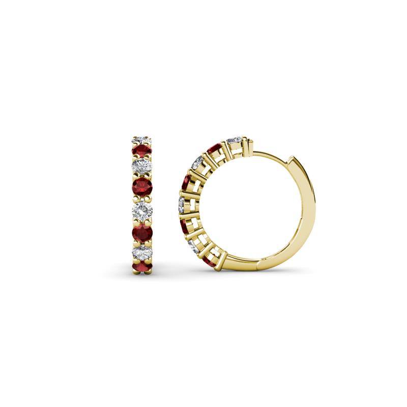 Red Garnet and Diamond (I1