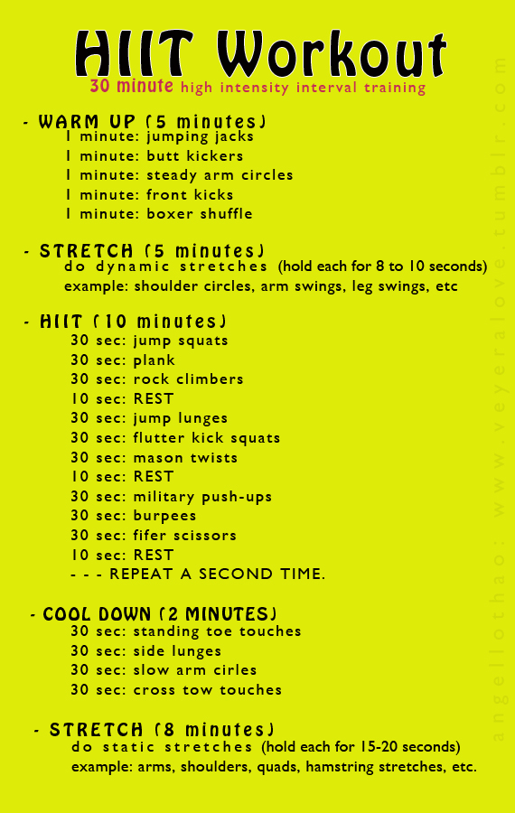 20 HIIT Weight Loss Workouts That Will Shrink Belly Fat! - gym workout for weight loss