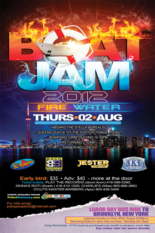 boat party flyer
