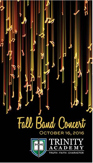 Band Fall 2016 Concert Program Trinity Academy