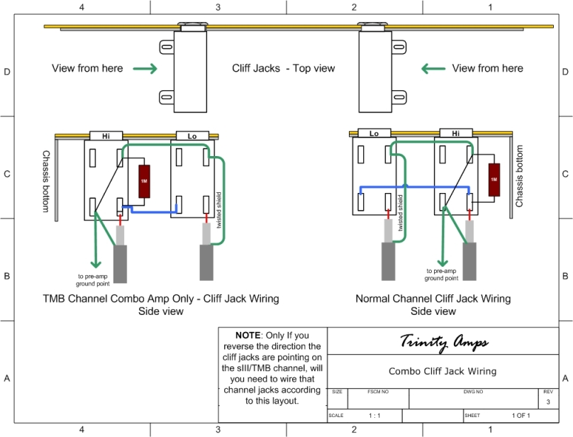 cliff output jack wiring