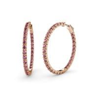 Rhodolite Garnet Inside-Out Hoop Earrings 2.43 ct tw in ...