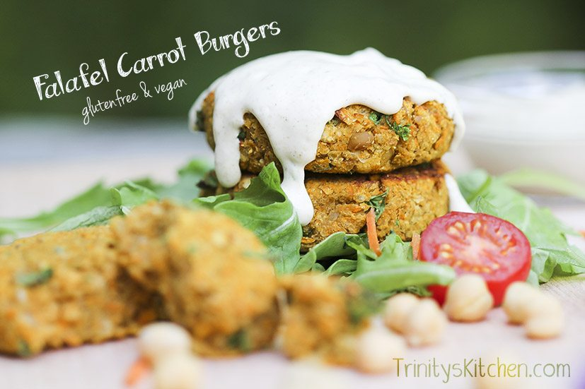 Grilled 'Falafel Carrot Burgers' (glutenfree, vegan)