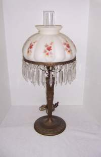 Brass Table Lamp Crystal Prisms | Triple A Resale