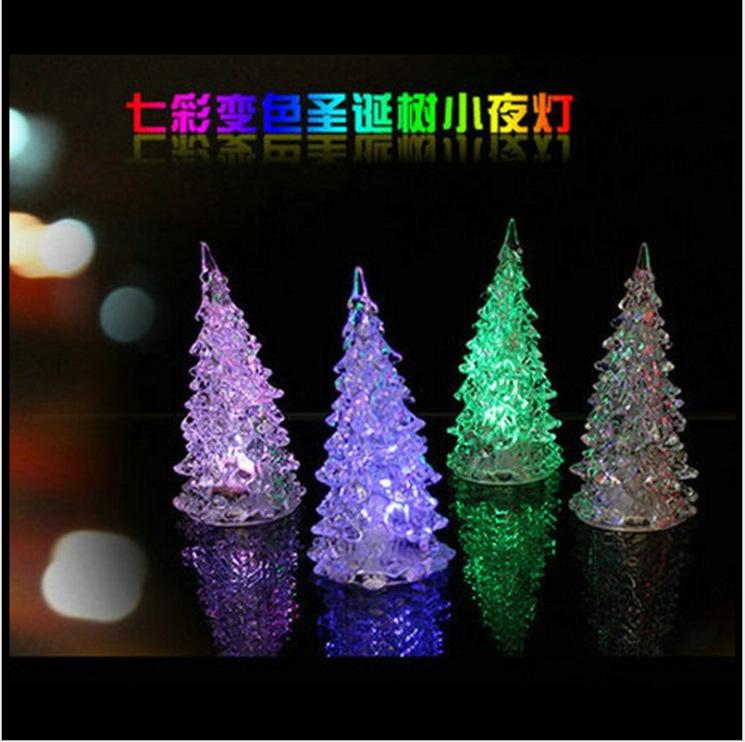 TripleClicks Mini LED Lighted Christmas Tree,Indoor Christmas - light up christmas decorations