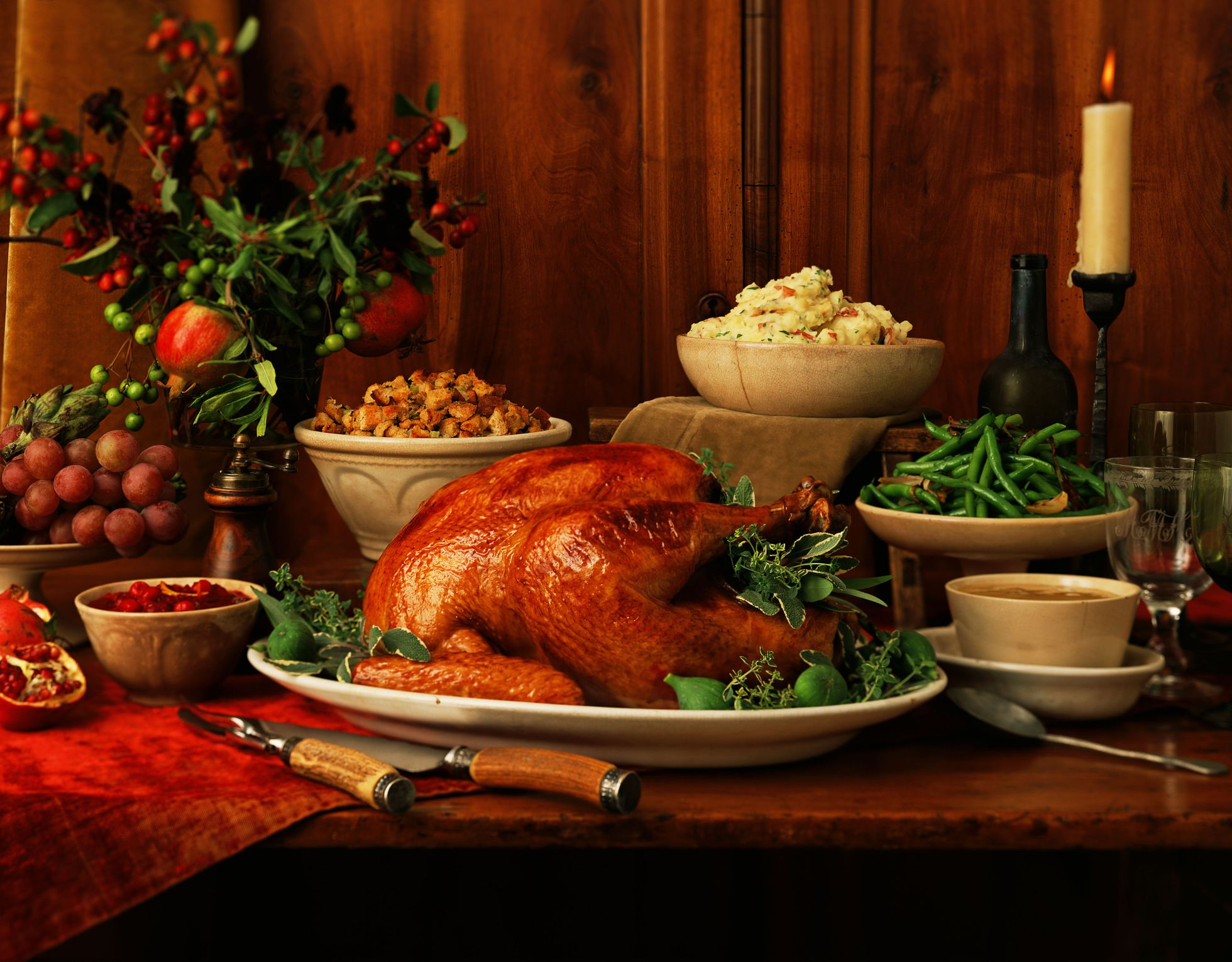 Fall Turkey Wallpaper Celebrating Thanksgiving In France Grocery Shopping And