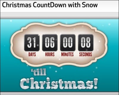 10 Awesome Christmas Countdown Timers | tripwire magazine