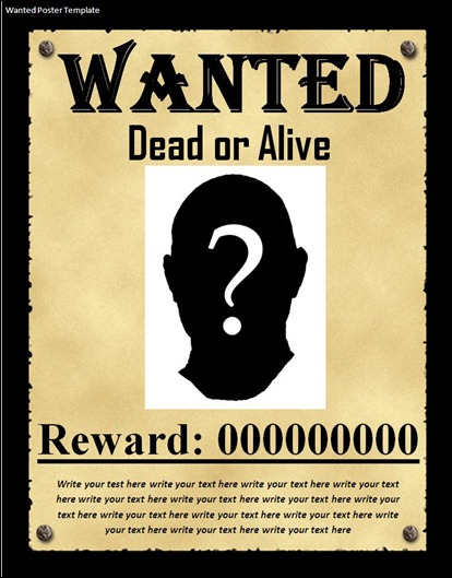 10+ Great Wanted Poster Template Collection - most wanted posters templates