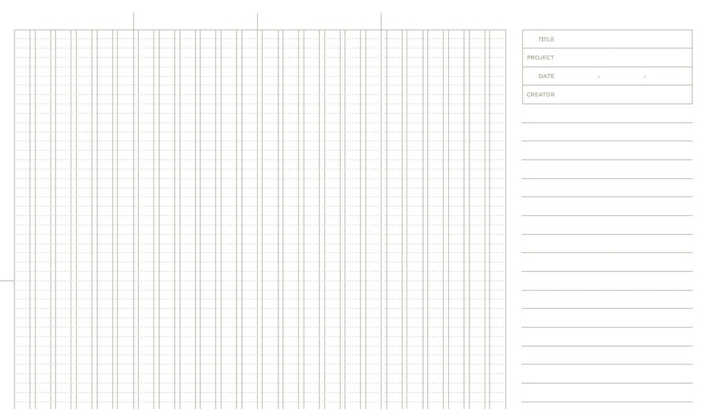 20 Free Printable Sketching and Wireframing Templates - graphing paper printable template
