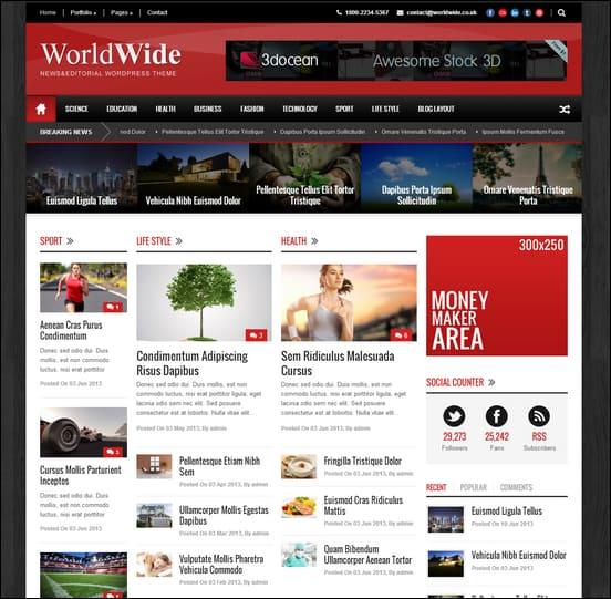15+ Powerful Wordpress Newspaper Themes - online newspaper template