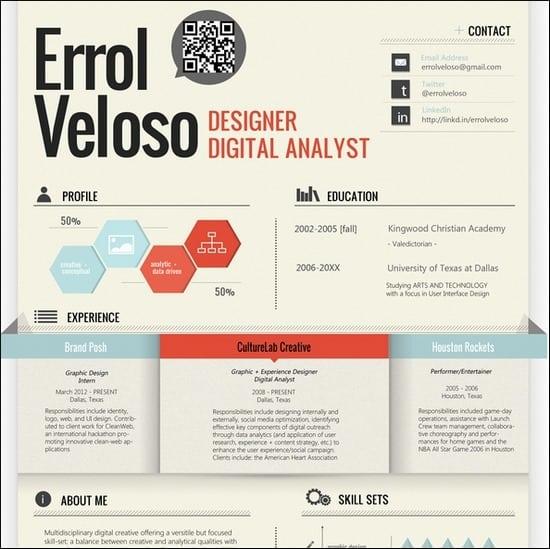 50+ Great Examples of Creatively Designed Resumes \u2013 Tripwire Magazine