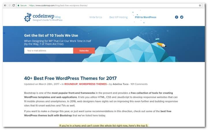 Top 100 Websites To Find The Best Free WordPress Themes in 2017 - best free wordpress templates