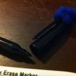Make Dry Erase Erasers Using Pom Poms