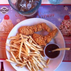 Steak n' Shake Chicken Strips Meal