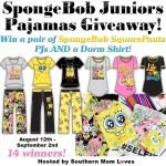 SpongeBob Juniors Pajamas Giveaway Aug 12 – Sept 2 ENDED