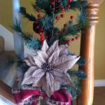 Simple Yet Festive Christmas Decor for the Stairs Railing