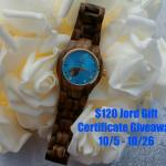 Jord Gift Certificate #Giveaway Ends Oct. 26  @las930 ENDED