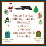 Kodiak Survival Knife #Giveaway #GTG2015 Ends Dec. 25 ENDED