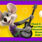 Chuck E Cheese and National Volunteer Month #Giveaway Ends April 28 *ENDED*